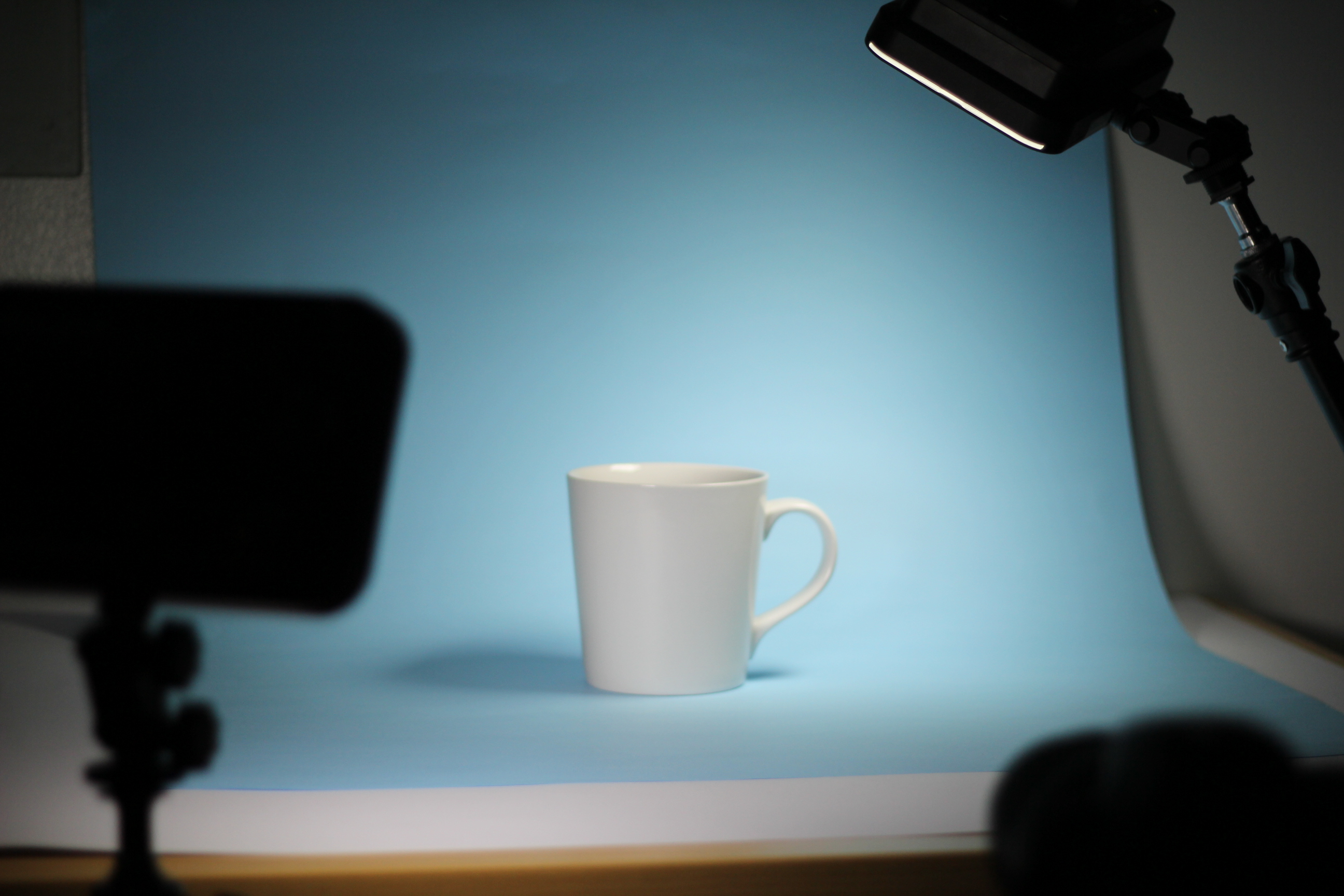 Mockup mug in a spotlight