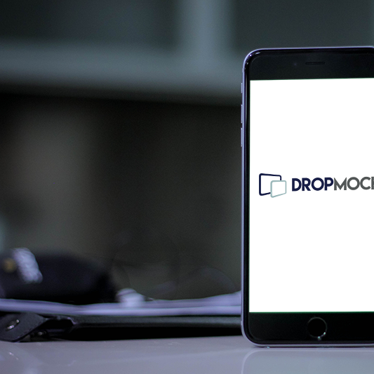 DropMock mobile template