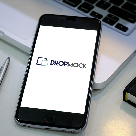 DropMock mobile template 3